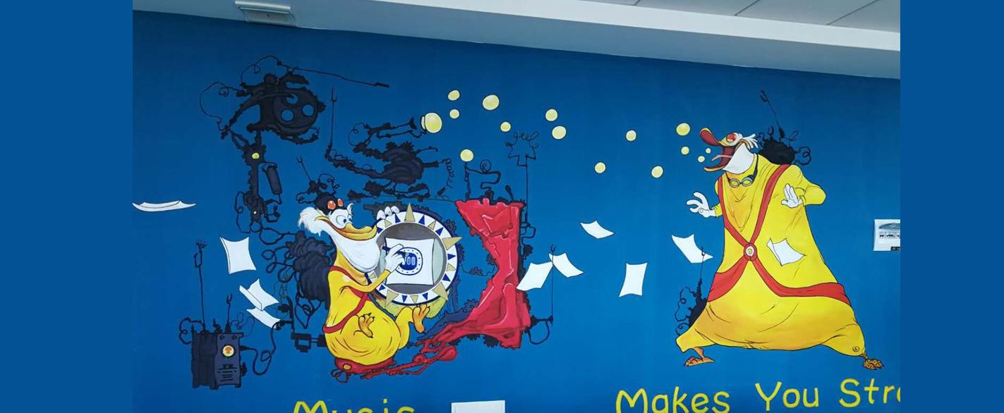 青岛墙体手绘