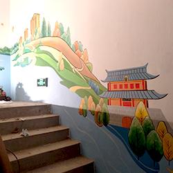 即墨国信.墨悦湾地产项目样板间即墨风情楼道彩绘