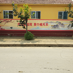 潍坊寒亭区建设美丽庭院文化墙彩绘