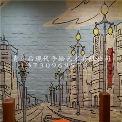 咖啡馆墙体彩绘