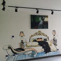 电视墙彩绘